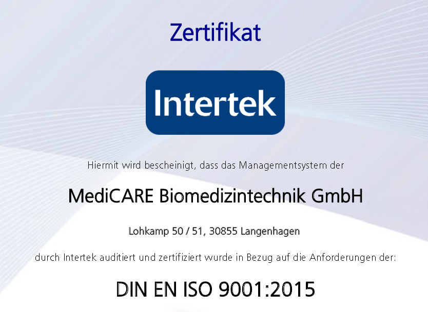 Rezertifizierung nach ISO 9001:2015 erfolreich absolviert