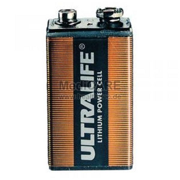 DefiBtech Lifeline AED Testbatterie 9 V Lithium Blockbatterie
