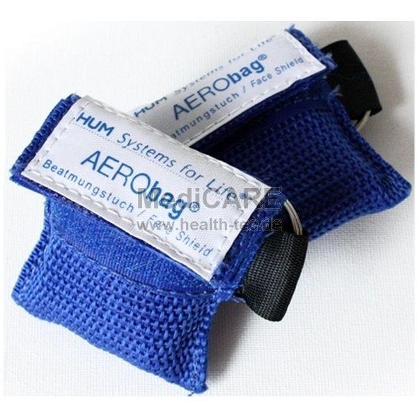 AERObag® BT1 Notfallbeatmungstuch mit Einwegventil, Soft-Case-Anhänger