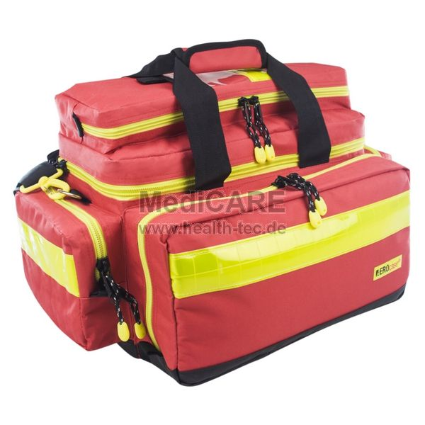 AEROcase® PRO 1R BL1 Notfall-Tasche Größe L, Material: Polyester, Farbe: rot