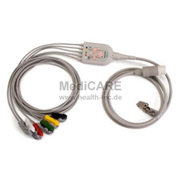 Philips 5-adriges EKG-Patientenkabelset Clip IEC für MP2/MP5 IntelliVue, VM6
