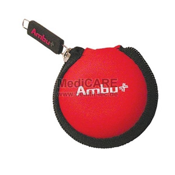 Ambu Reskey mit Ambu Logo im Softcase, Farbe rot