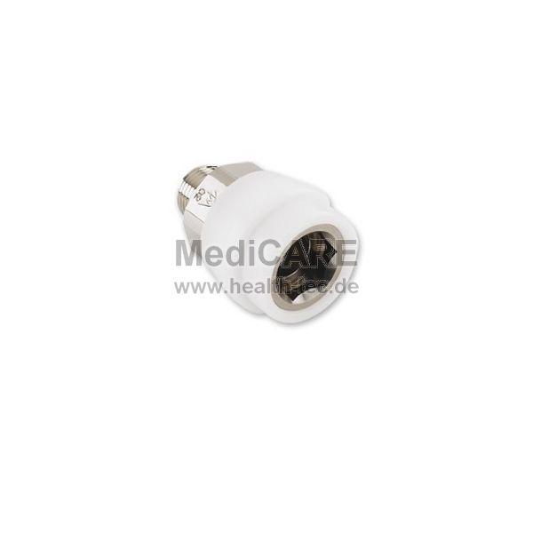 O2-DIN-Kupplung nach DIN 13260 Typ: AEROway, für ZGA, weiß