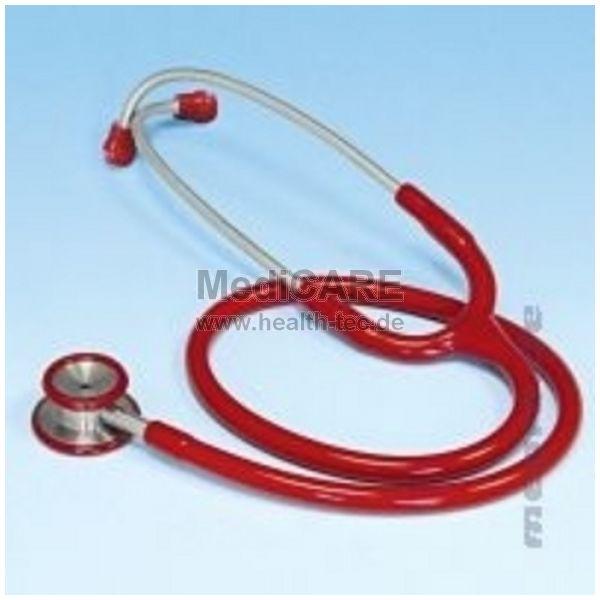 Doppelkopf-Stethoskop für Kinder Farbe: rot / Edelstahl