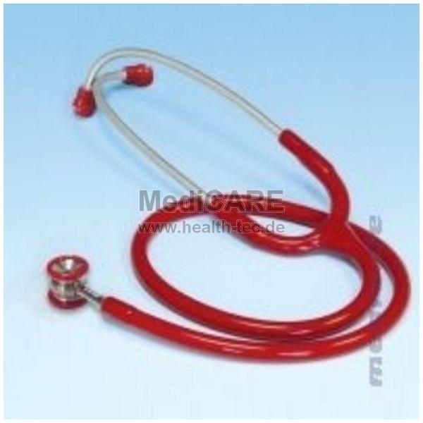Doppelkopf-Stethoskop für Babys Farbe: rot / Edelstahl