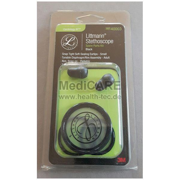 Ersatzteil-Set für Littmann Cardiologie III Stethoskop, Farbe schwarz