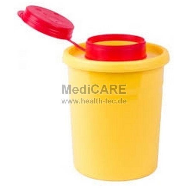 Kanülenabwurfbox Quick 500 0,5l, gelb, runde Form