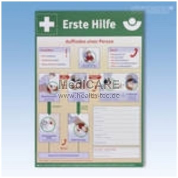 Erste-Hilfe Plakat / Aushang DIN A2, Verhaltensweisen bei Unfällen