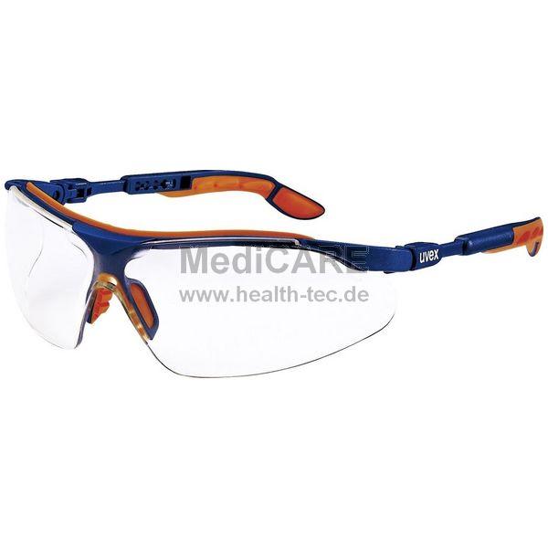 Uvex Schutzbrille I-VO Kunststoff orange/blau gemäß EN 166 + EN 170, Gläser: transparent