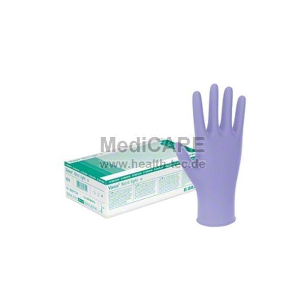 BRAUN Vasco® Nitril light, Größe S Untersuchungs- handschuhe in Lavendel-blau, VE=100 Stück