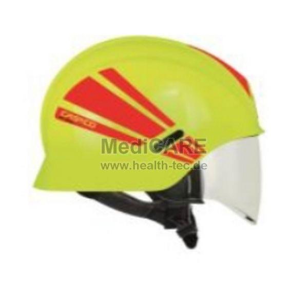 Feuerwehrhelm Casco PF 1000 R V inkl. Visier, Farbe: nachtleuchtend gelb