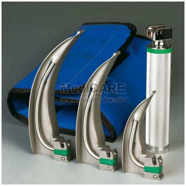 Cold Blade Kaltlicht Laryngoskop-Set inkl. Spatel Gr. 1,3,4, Griff + Tasche