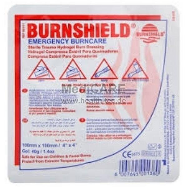 BurnShield Wundauflage 10x10cm - steril zur Versorgung von Verbrennungen