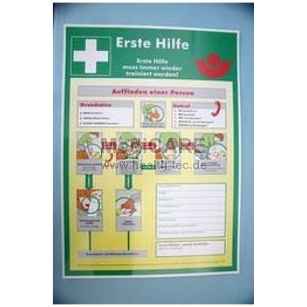 Erste Hilfe Schild nach BGI510 Kennfarbe: RAL6032 Signalgrün