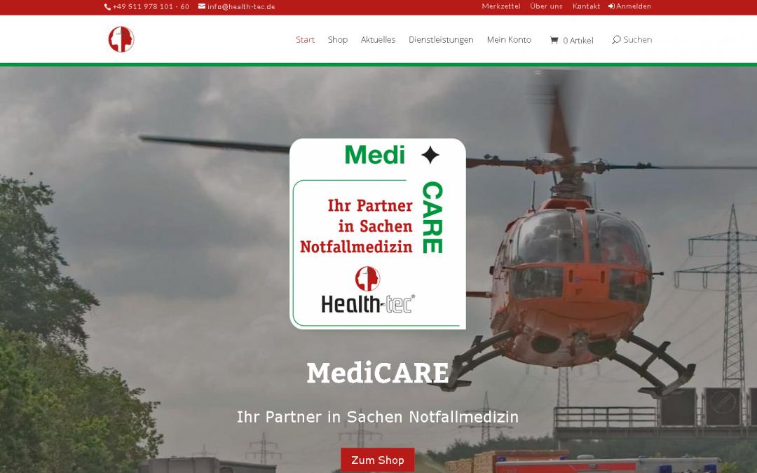 Neue Website mit modernem Onlineshop